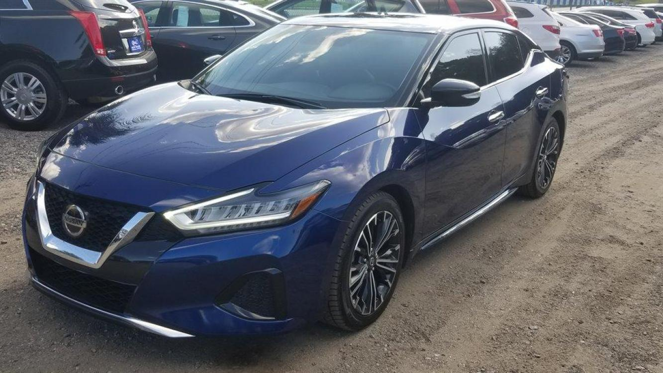 2019 Blue /Black Nissan Maxima SV (1N4AA6AV0KC) with an 3.5l V6 Smpi Dohc Cvtcs 3 engine, Automatic transmission, located at 745 East Steele Rd., West Columbia, SC, 29170, (803) 755-9148, 33.927212, -81.148483 - Photo #0